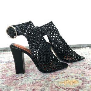 Zara Woman Black Mesh Heels